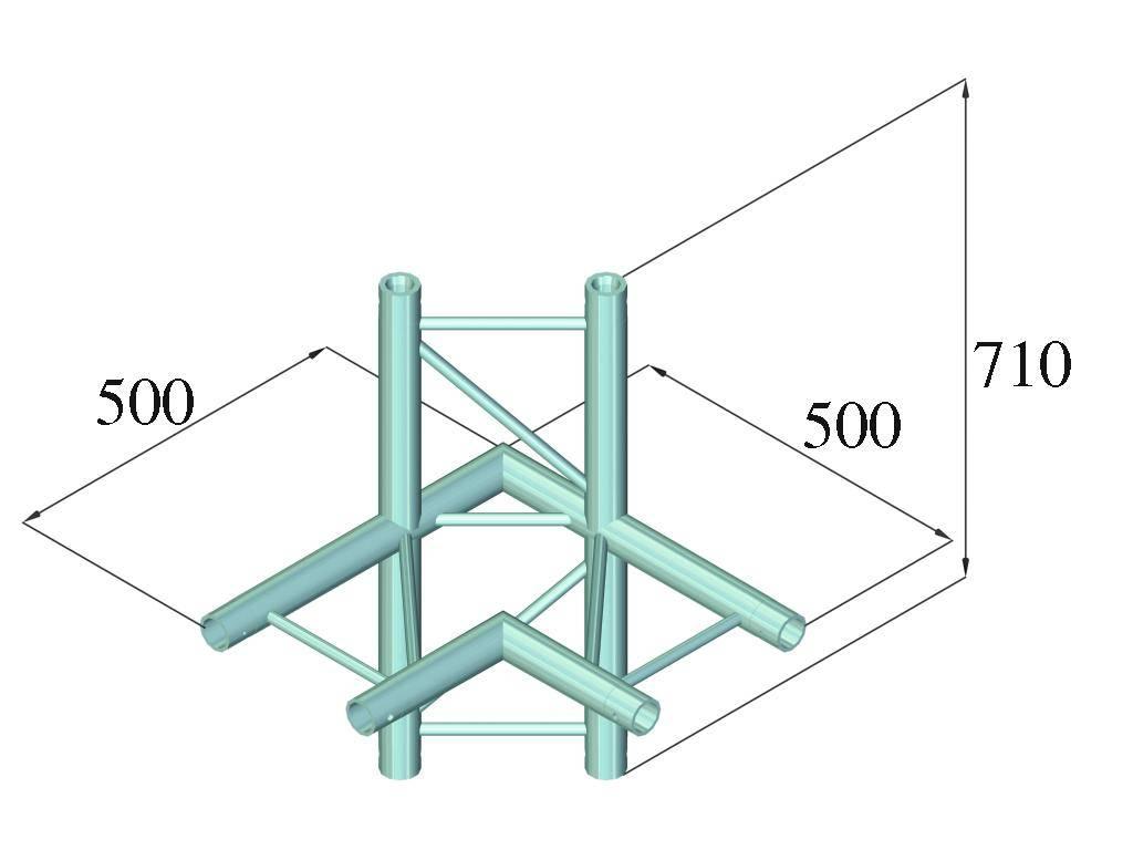 ALUTRUSS ALUTRUSS BILOCK E-GL22 C44-H 4-Way Corner 90°