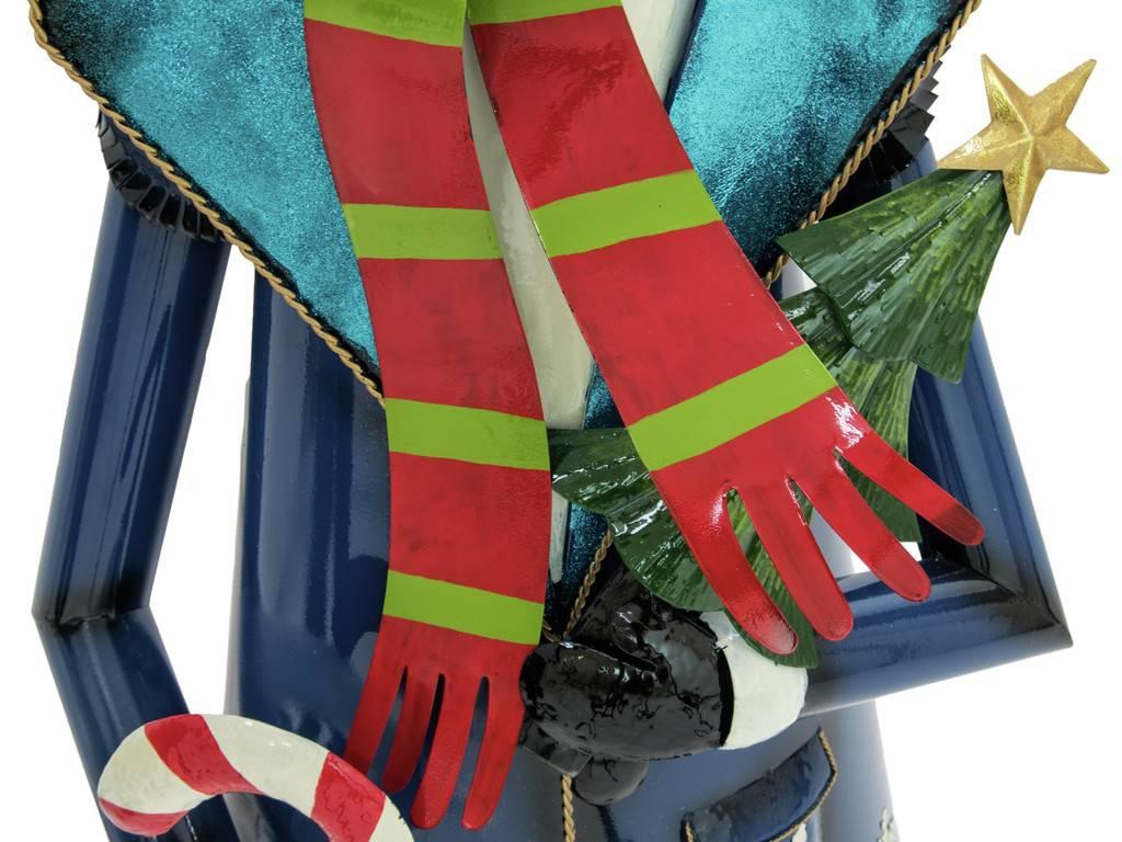 EUROPALMS EUROPALMS Snowman with Coat, Metal, 150cm, blue