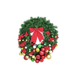 EUROPALMS EUROPALMS Premium Fir Wreath, decorated, 90cm