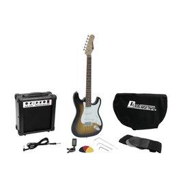 DIMAVERY DIMAVERY EGS-1 Electric guitar set, sunburst