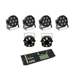 EUROLITE EUROLITE Set 4x LED SLS-7 HCL Floor + 2x LED FE-700 + DMX LED Co