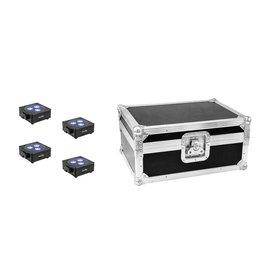 EUROLITE EUROLITE Set 4x AKKU Flat Light 3 bk + Case
