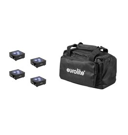 EUROLITE EUROLITE Set 4x AKKU Flat Light 3 bk + Soft-Bag