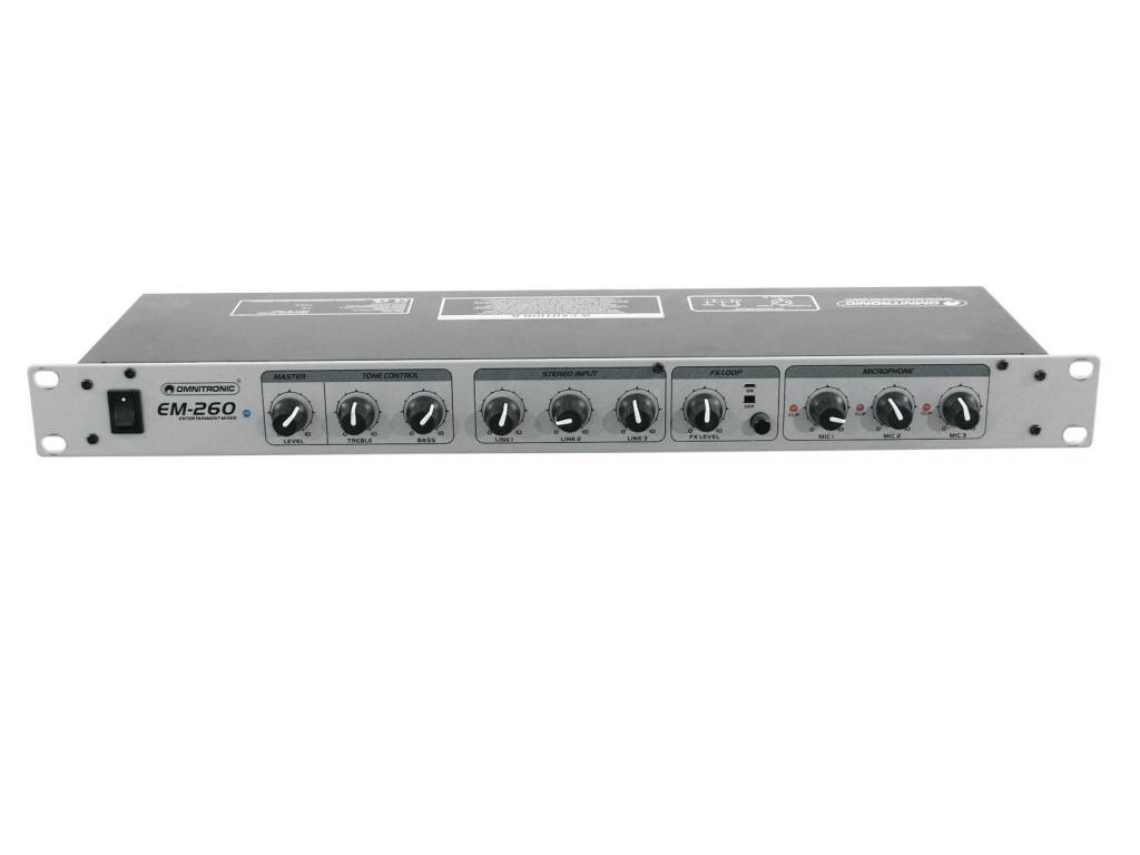 OMNITRONIC OMNITRONIC EM-260 Entertainment mixer