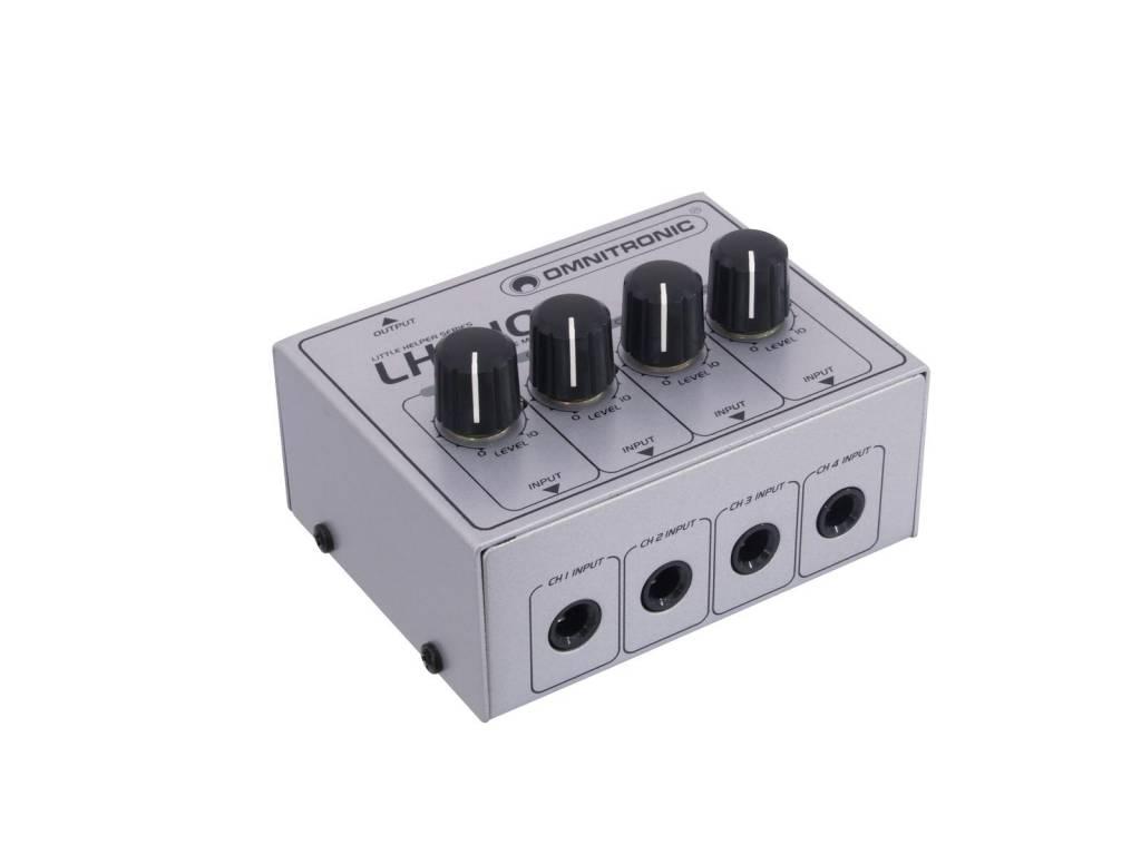 OMNITRONIC OMNITRONIC LH-010 4-channel mixer passive