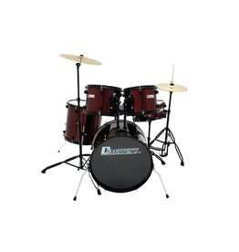 DIMAVERY DIMAVERY DS-200 Drum set, wine red