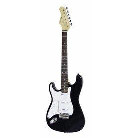 DIMAVERY DIMAVERY ST-203 E-Guitar LH, black