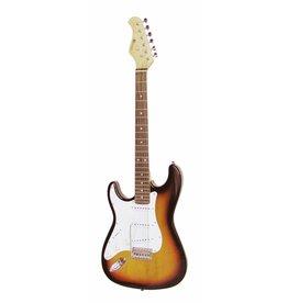 DIMAVERY DIMAVERY ST-203 E-Guitar LH, sunburst