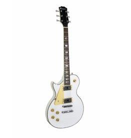 DIMAVERY DIMAVERY LP-700L E-Guitar, LH, white