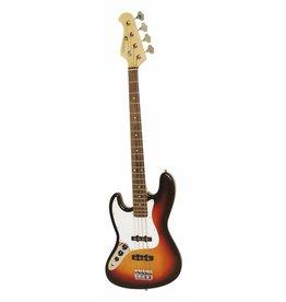 DIMAVERY DIMAVERY JB-302 E-Bass LH, sunburst