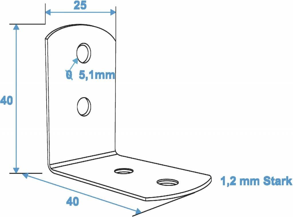 ACCESSORY Small corner brace 25x40mm