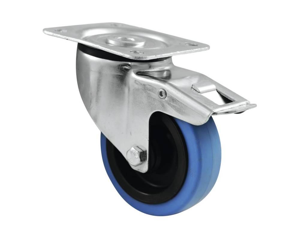 ACCESSORY Swivel castor 100mm BLUE WHEEL with brake