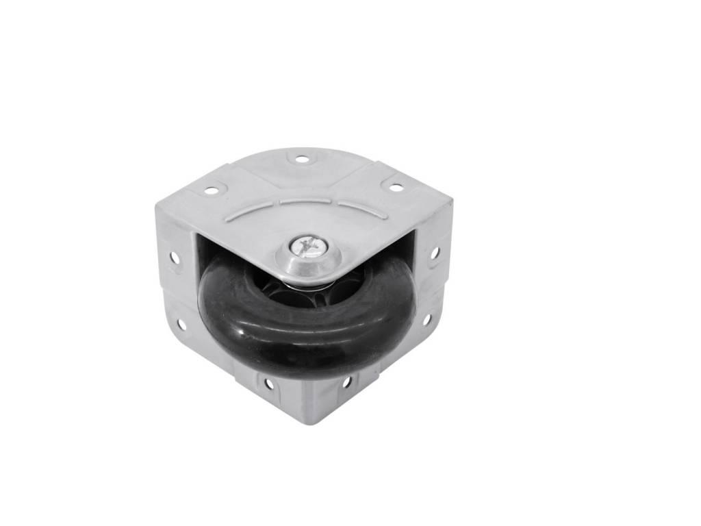 ACCESSORY Corner castor black 104x81x65mm