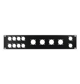 OMNITRONIC OMNITRONIC Front panel Z-19 8x D-Type/4xNL8/T 2U