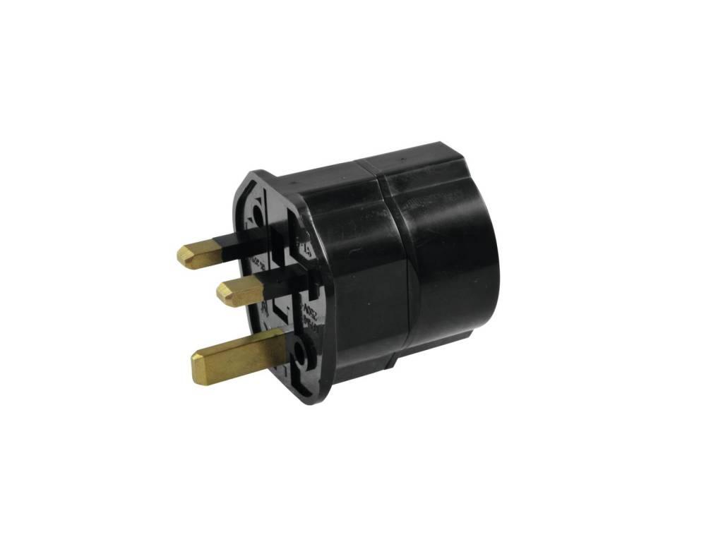 ACCESSORY Adapter EU/UK plug 13A bk
