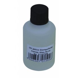 EUROLITE EUROLITE UV-active stamp ink, transp. blue, 50ml