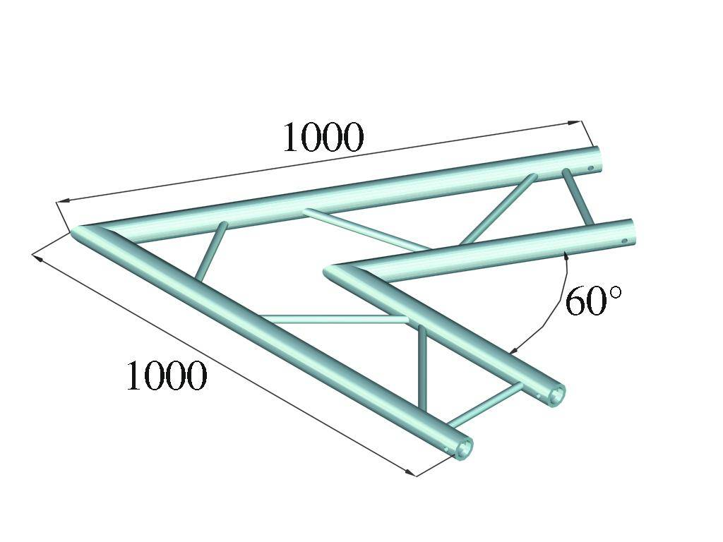ALUTRUSS ALUTRUSS BILOCK BQ2-PAC20H 2-way corner 60
