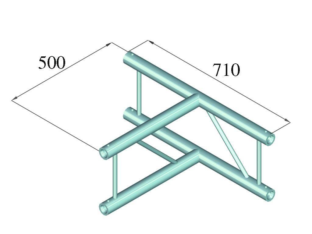 ALUTRUSS ALUTRUSS BILOCK BQ2-PAT36V 3-way T-piece 90