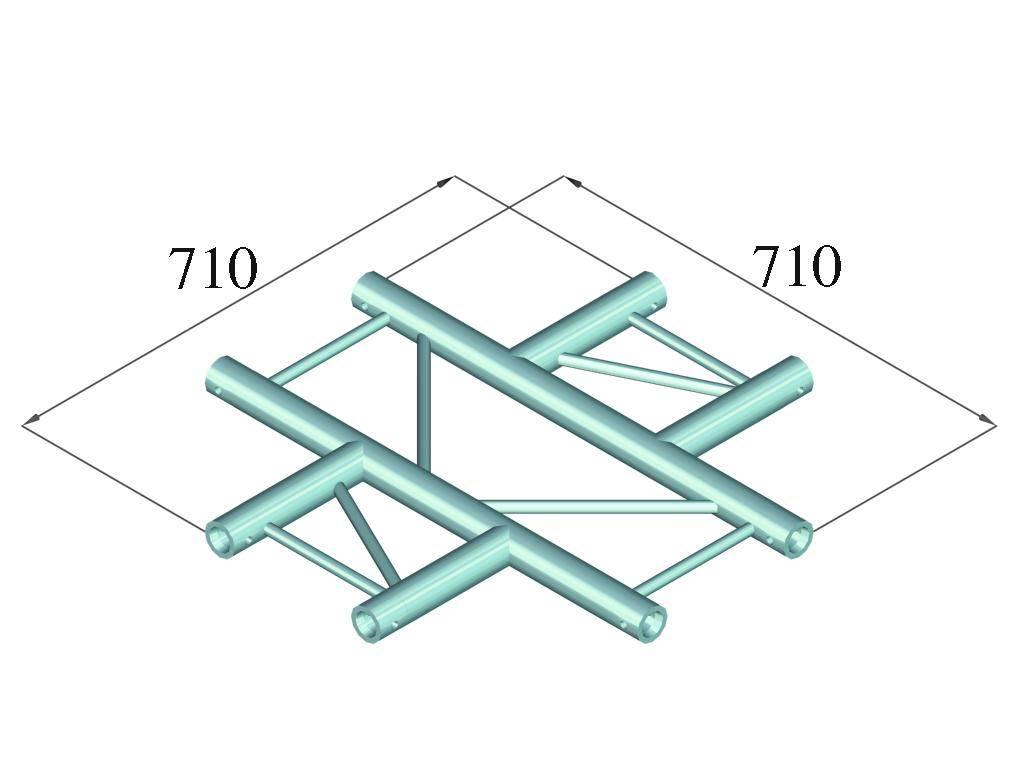 ALUTRUSS ALUTRUSS BILOCK BQ2-PAC41H 4-way cross piece