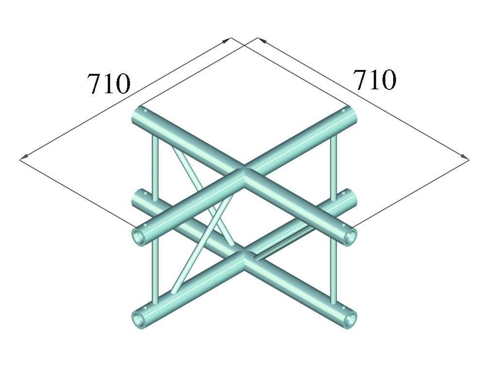 ALUTRUSS ALUTRUSS BILOCK BQ2-PAC41V 4-way cross piece