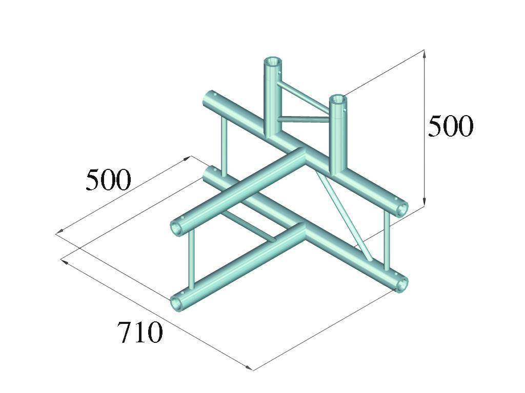 ALUTRUSS ALUTRUSS BILOCK BQ2-PAT42V 4-way T-piece