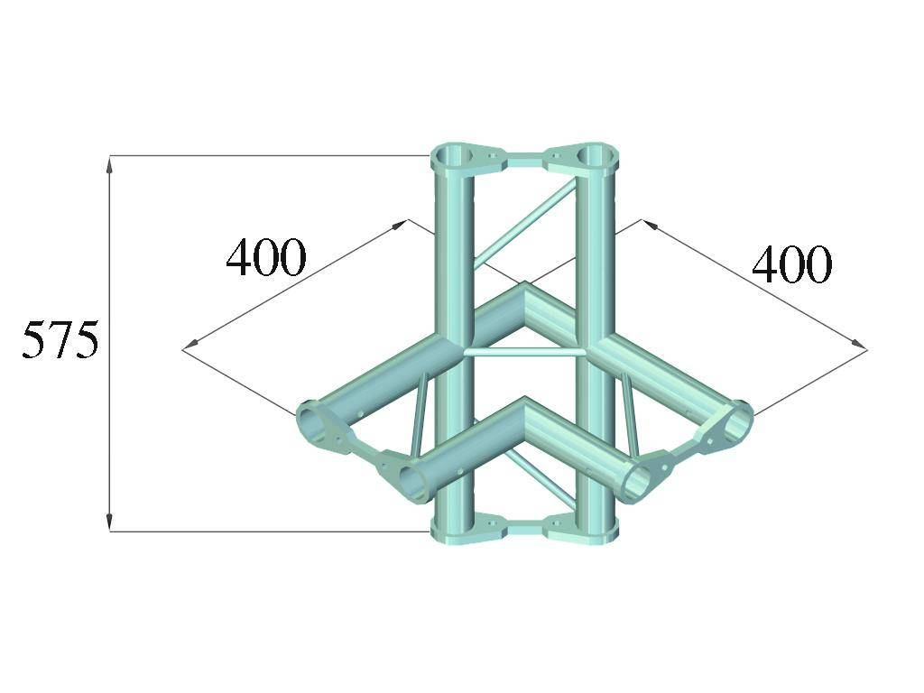ALUTRUSS ALUTRUSS BISYSTEM PH-44 4-way corner horizontal