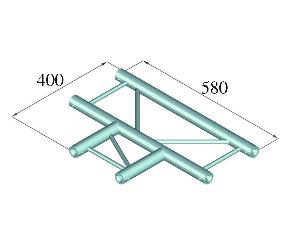 ALUTRUSS ALUTRUSS DECOLOCK DQ2-PAT35H 3-way T-piece 90