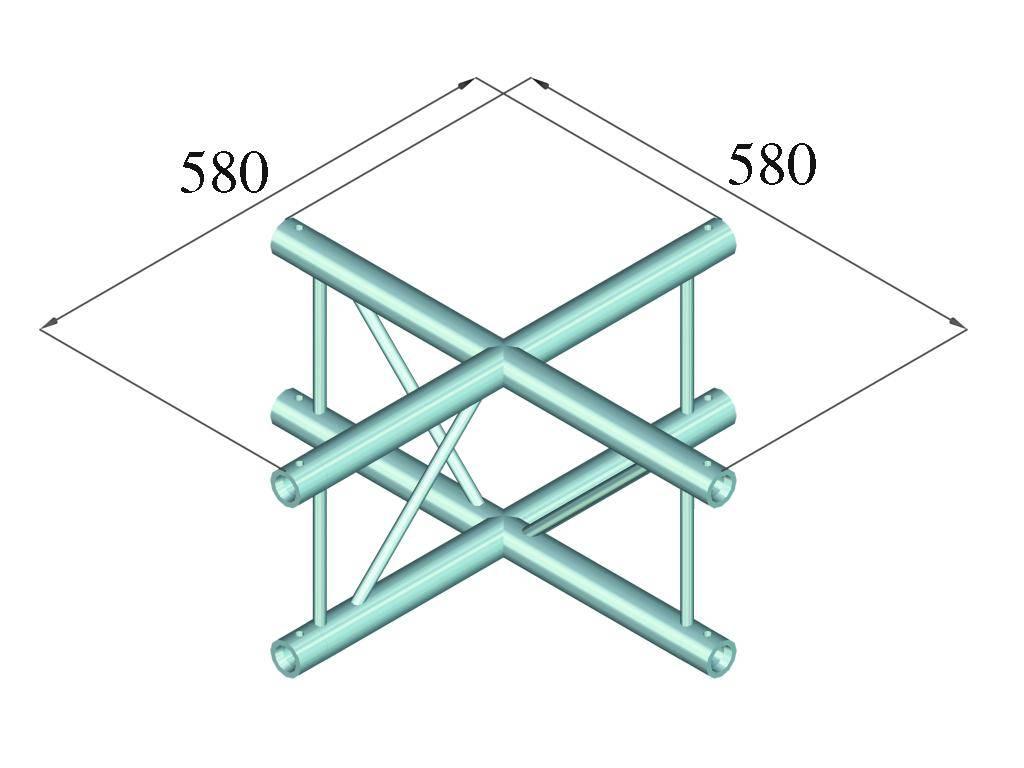 ALUTRUSS ALUTRUSS DECOLOCK DQ2-PAC41V 4-way cross piece