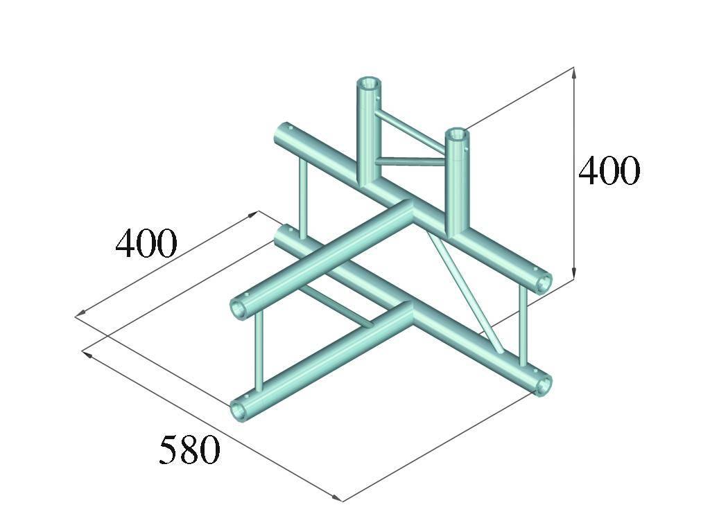 ALUTRUSS ALUTRUSS DECOLOCK DQ2-PAT42V 4-way T-piece