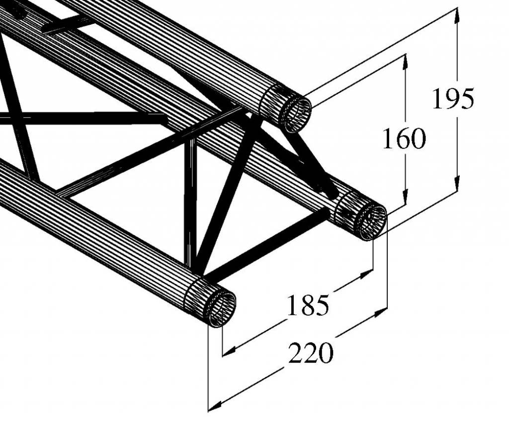 ALUTRUSS ALUTRUSS DECOLOCK DQ3-500 3-way cross beam