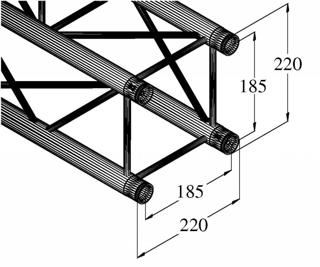 ALUTRUSS ALUTRUSS DECOLOCK DQ4-3000 4-way cross beam
