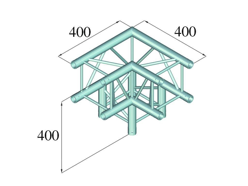 ALUTRUSS ALUTRUSS DECOLOCK DQ4-PAL30 3-way corner 90