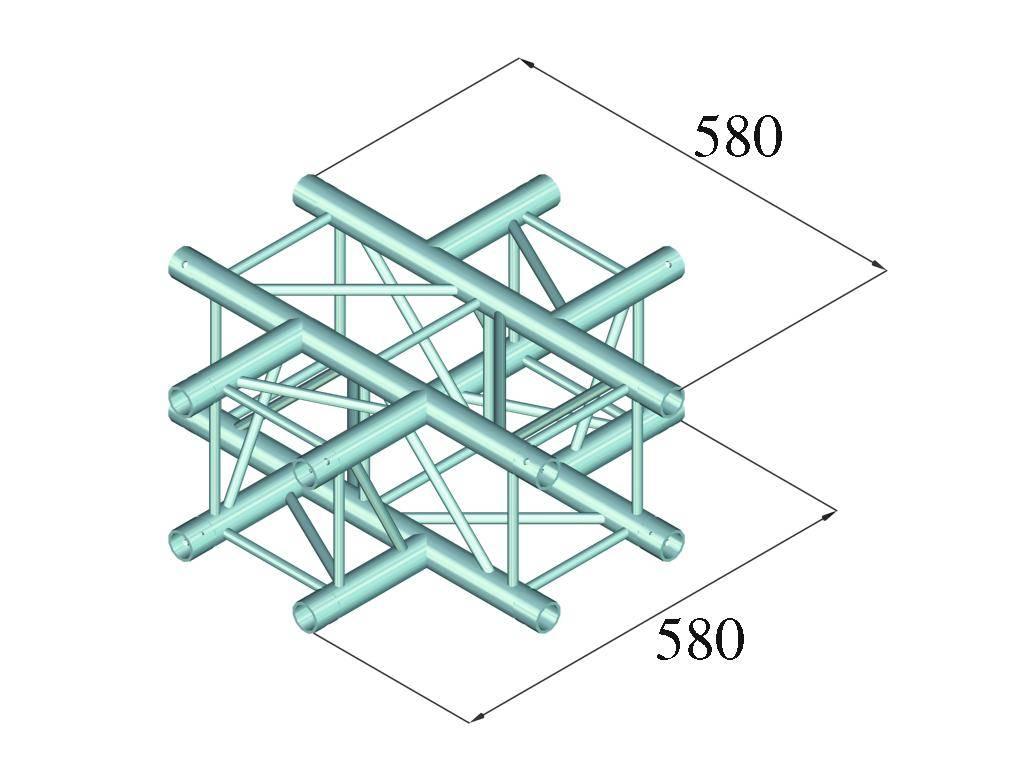 ALUTRUSS ALUTRUSS DECOLOCK DQ4-PAC41 4-way cross piece
