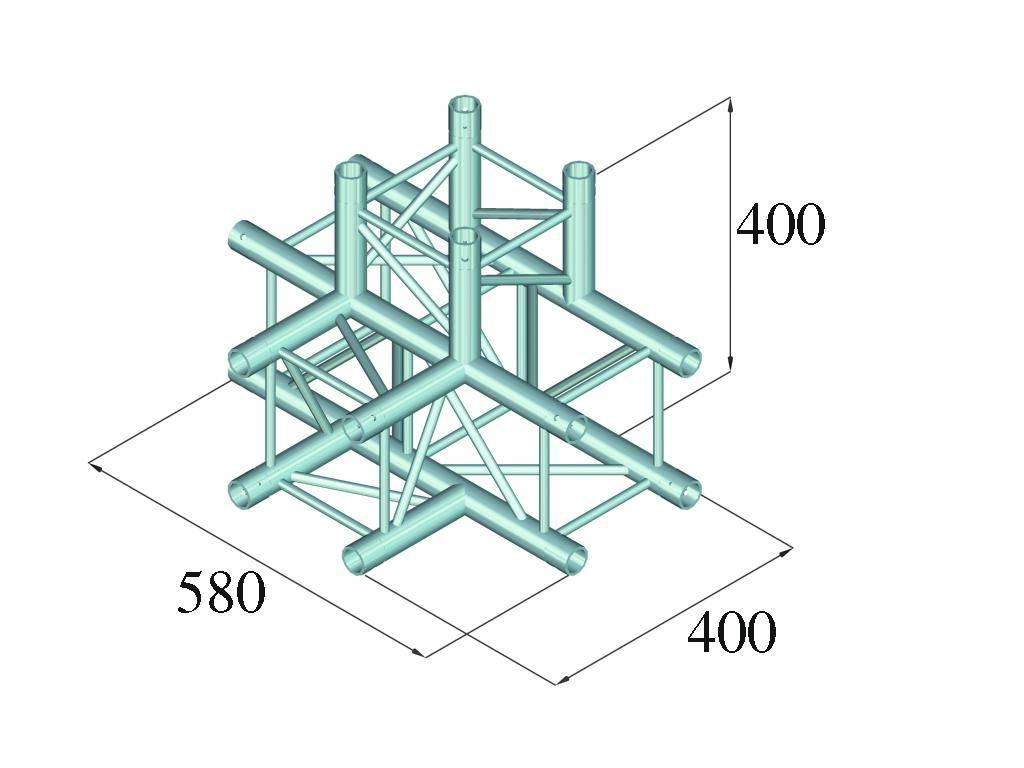 ALUTRUSS ALUTRUSS DECOLOCK DQ4-PAT42 4-way T-piece