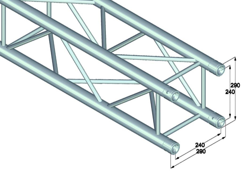 ALUTRUSS ALUTRUSS QUADLOCK 6082-1250 4-way cross beam