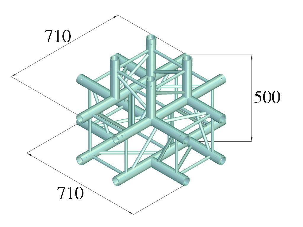 ALUTRUSS ALUTRUSS QUADLOCK 6082C-51 5-way cross piece