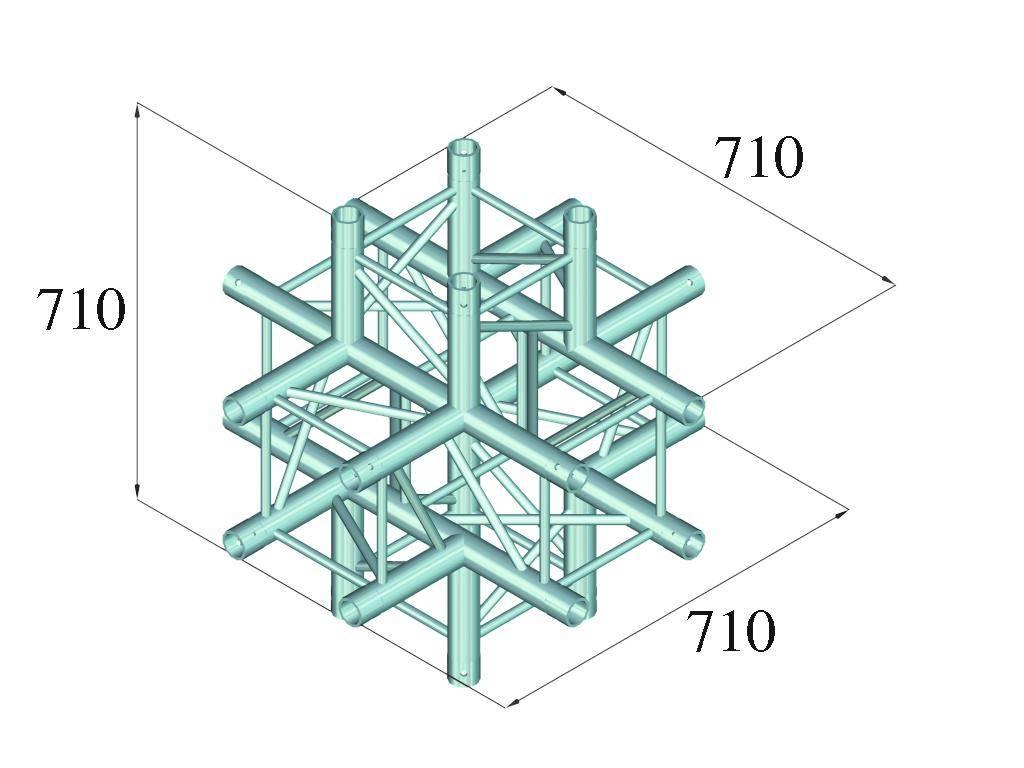 ALUTRUSS ALUTRUSS QUADLOCK 6082C-61 6-way cross piece