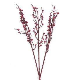 EUROPALMS EUROPALMS Berry spray glitter red 85cm 3x