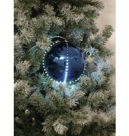 EUROPALMS EUROPALMS LED Snowball 8cm, dark blue 5x