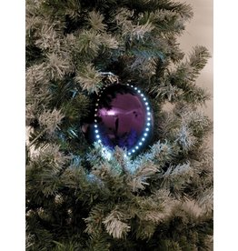 EUROPALMS EUROPALMS LED Snowball 8cm, purple 5x