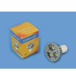 OMNILUX OMNILUX GU-10 230V 3x1W LED blue CR