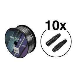 EUROLITE EUROLITE Set DMX cable 2x0.22 100m sw + 20 connectors