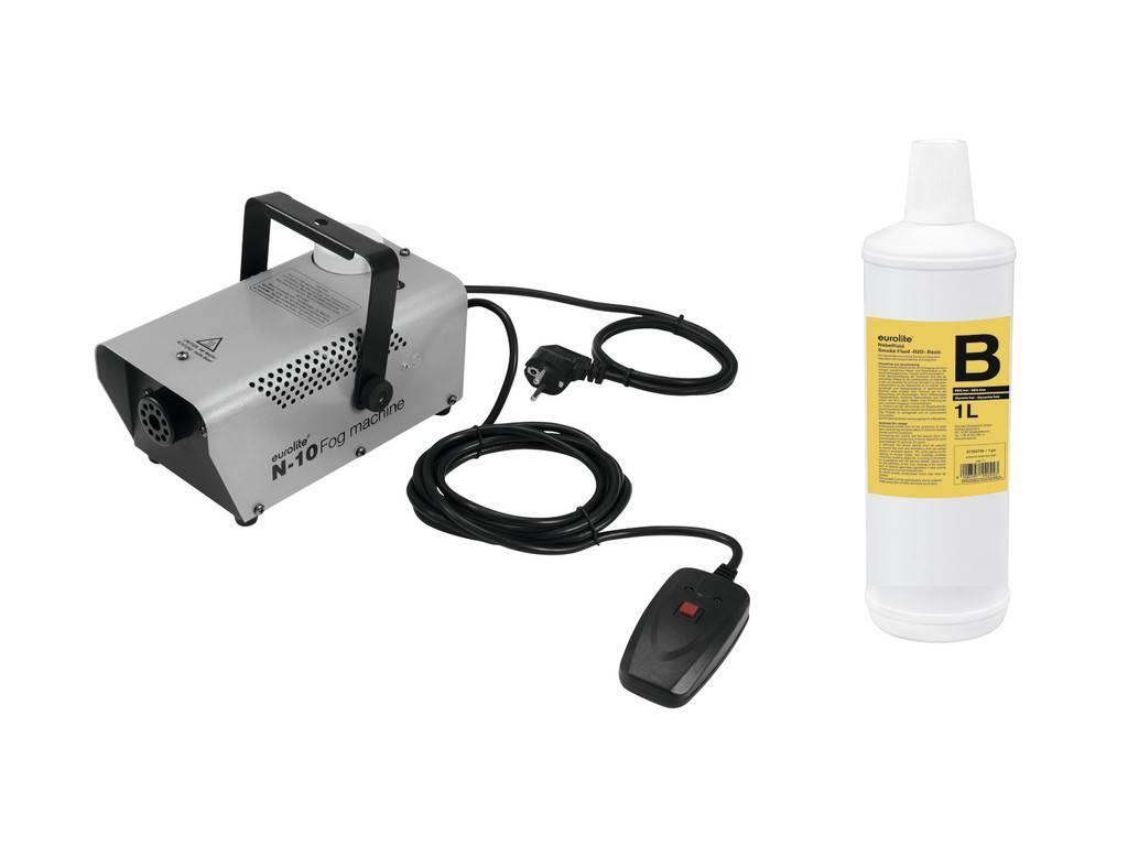 EUROLITE EUROLITE Set N-10 silver + B2D Basic smoke fluid 1l