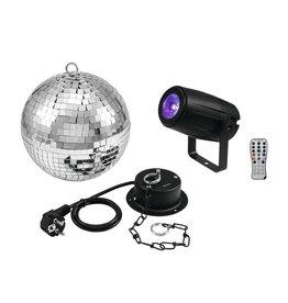 EUROLITE EUROLITE Mirror Ball 20cm with motor + LED PST-5 QCL Spot bk
