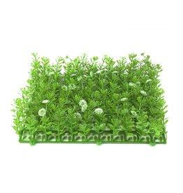EUROPALMS EUROPALMS Grass mat, artificial, green-white, 25x25cm