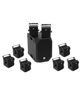 OMNITRONIC OMNITRONIC Set BOB-10A bk + 8x BOB-4 bk