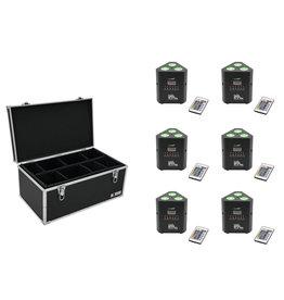 EUROLITE EUROLITE Set 6x AKKU TL-3 TCL Trusslight QuickDMX + Case TDV-1