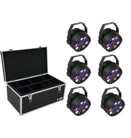 EUROLITE EUROLITE Set 6x LED PARty Spot + Case TDV-1