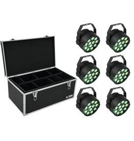 EUROLITE EUROLITE Set 6x LED PARty TCL Spot + Case TDV-1