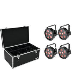 EUROLITE EUROLITE Set 4x LED SLS-6 TCL Spot + Case TDV-1